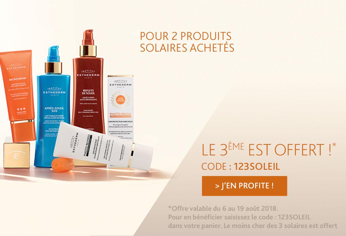 Offre du mois : Pour 2 produits solaires achetés le 3ème est offert !