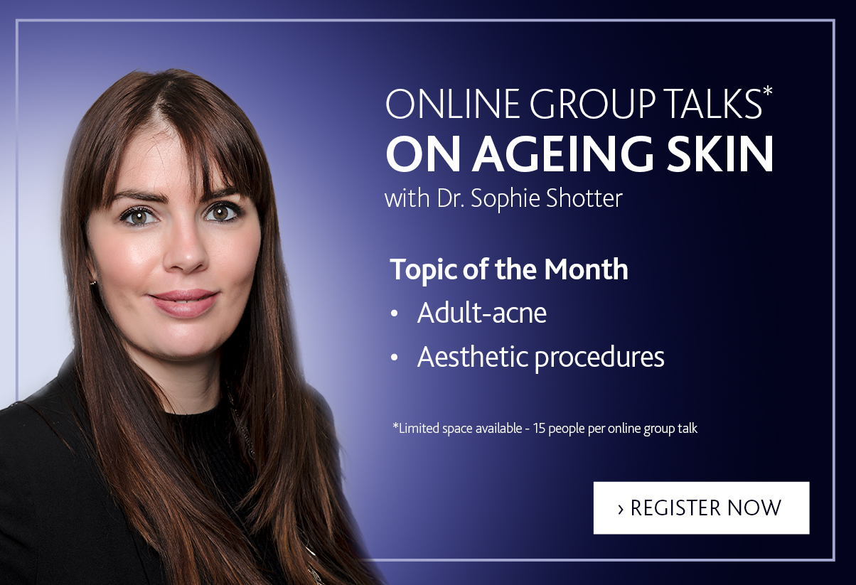 Ageing skin online group talk with Dr. Shotter