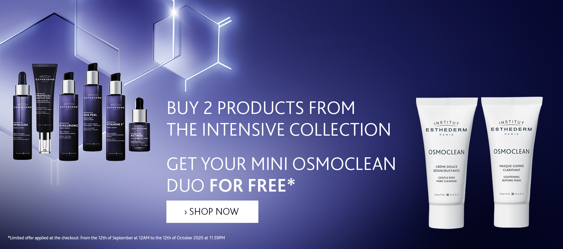 Institut Esthederm Intensive collection x Osmoclean Duo