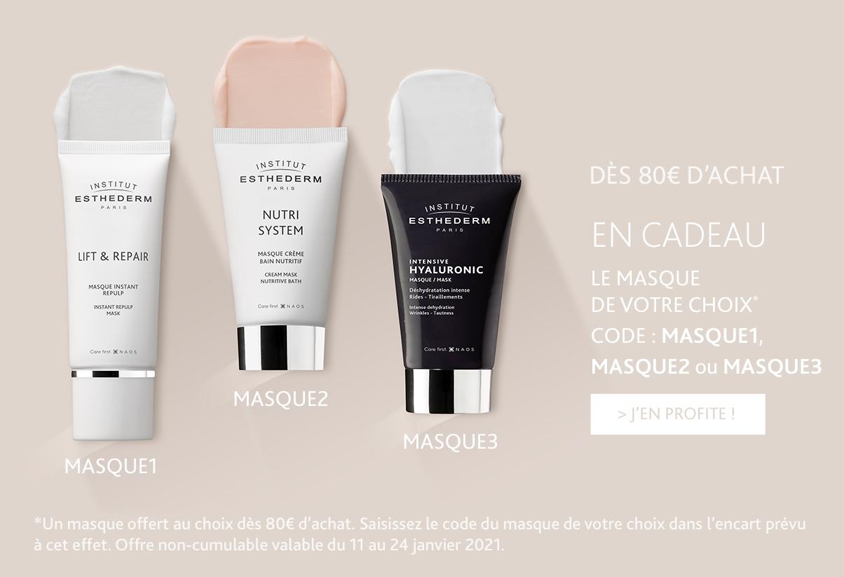 Offre janvier : Dès 80€ d'achat, un masque au choix offert