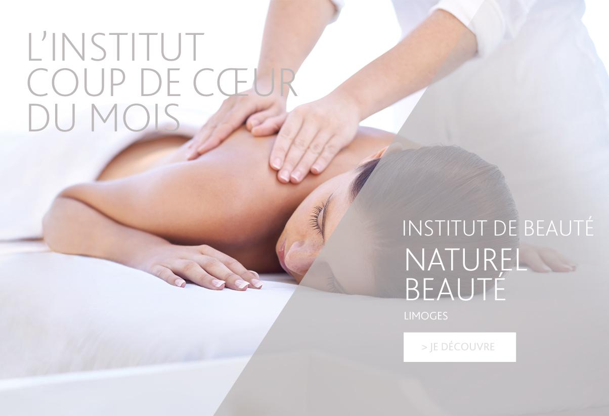 Institut coup de coeur du mois - Naturel Beauté, Limoges
