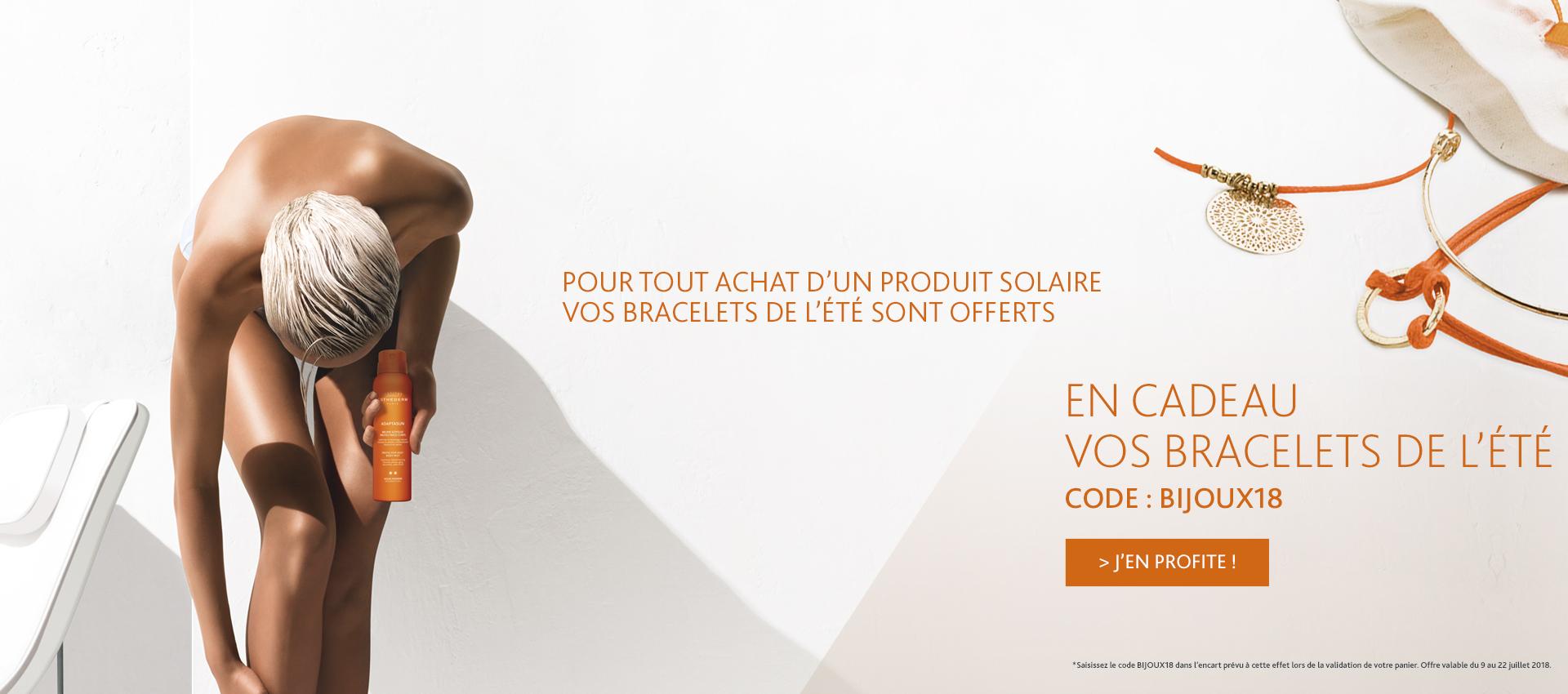 Offre Juillet : 3 bracelets de l'été offerts pour l'achat d'1 solaire