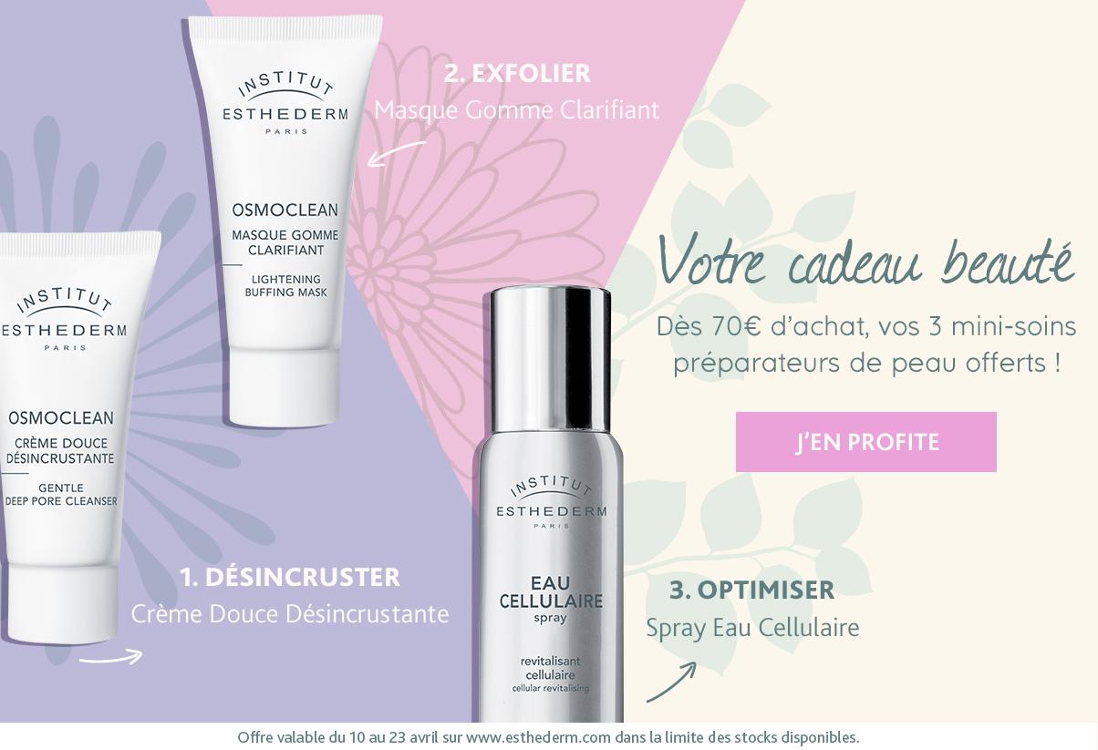 Offre : kit préparateur de peau offert dès 70€ d'achat