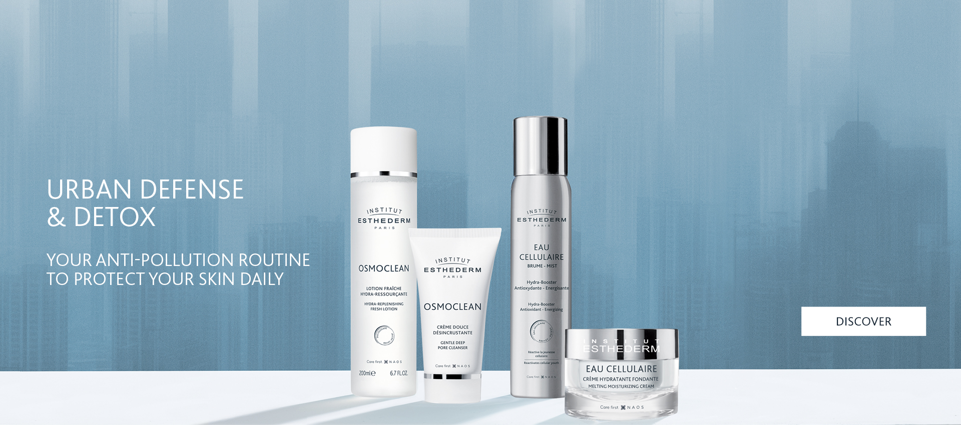 Institut Esthederm Cellular Water and Osmoclean skin detox and energising