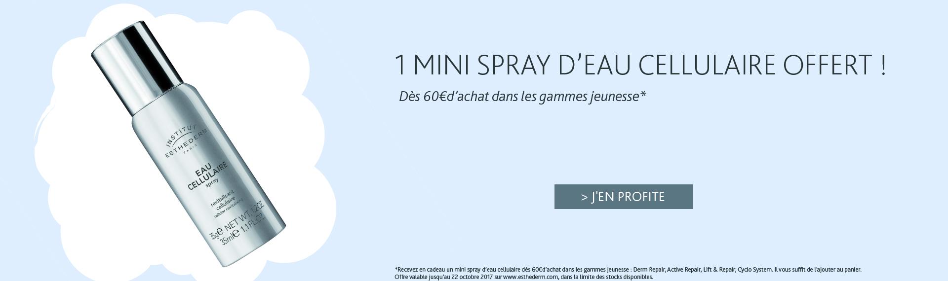 Offre octobre 2017 mini spray eau cellulaire | Institut Esthederm